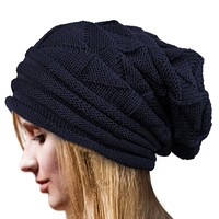 Perfect Skiing Outdoor Women Men Beanies Winter Knit Hat Cap