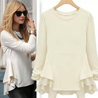 Fashion long-sleeved Shirts casual dress AA827HB