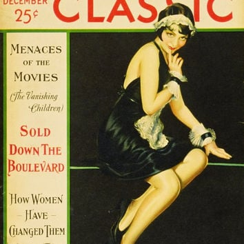 Lila Lee 11x17 Motion Picture Classic Magazine Cover Poster (1920's)