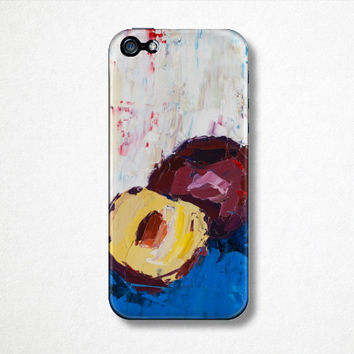 Art Phone Case, iPhone 4 Case, iPhone 5 case, Purple Phone Case, Gift for Her, Fruit Phone Case, Designer Phone Case, Abstract Phone Case