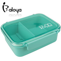 """It's lunch time"" fun life bento lunch box dinner box lunchbox 620ml Japanese style microwave oven cultery"