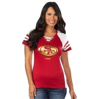 Majestic San Francisco 49ers Draft Me VII Colorblock Raglan