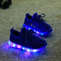 Children Shoes Led YeezyEu 21-36 Kids Light Up Shoes Luminous Glowing Sneakers Toddler Boys Girls Shoes Led Sneakers Fashion