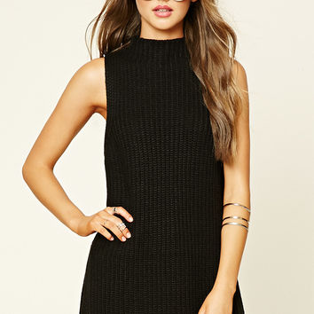 Ribbed Knit Sweater Tunic