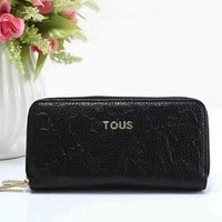 TOUS Women Fashion Trending Wallet Purse Clutch Bag Leather Tote Handbag Black G-LLBPFSH