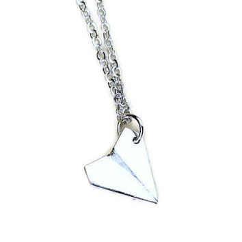 One Direction Paper Airplane Metal Charm Necklace