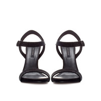 SANDAL WITH SHINY STRAPS - Woman - New this week | ZARA United Kingdom
