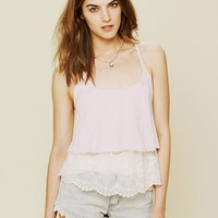 Free People Tiered Lace Racer Cami