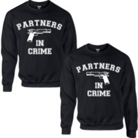 PARTNERS IN CRIME COUPLE SWEATSHIRT