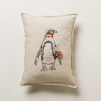 Pocketed Penguin Pillow