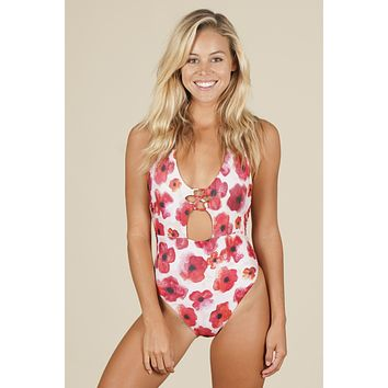 Stone Fox Swim - Na Pali One Piece | Sunrise Poppy