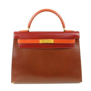 Auth HERMES Kelly 32 Kelly Women calfxcalf Shoulder Bag