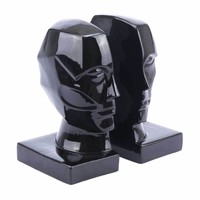 Face Bookends Black