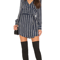 L'Academie The Leone Dress in Navy Stripe