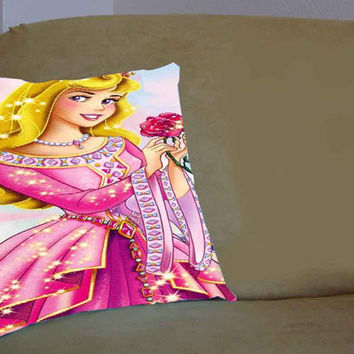 Disney Princess Aurora - Pillow Case, Pillow Cover, Custom Pillow Case **