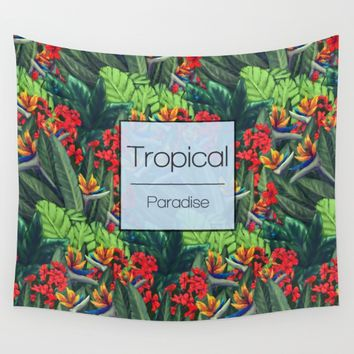 Tropics Paradise Wall Tapestry by Ben Geiger