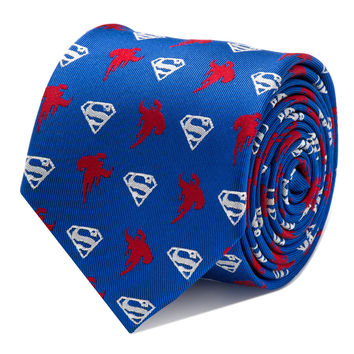 Superman Blue Mens Tie