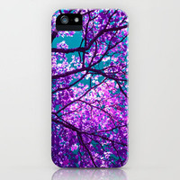 purple tree II iPhone Case by blackpool | Society6