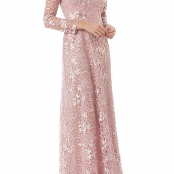 JS Collections Embroidered Tulle Gown | Nordstrom