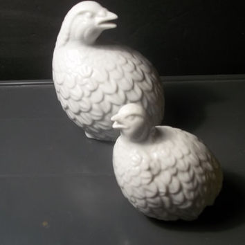 Vintage Pair of Ceramic Quails,Collectible Vintage,Home Decor,Castawayacres