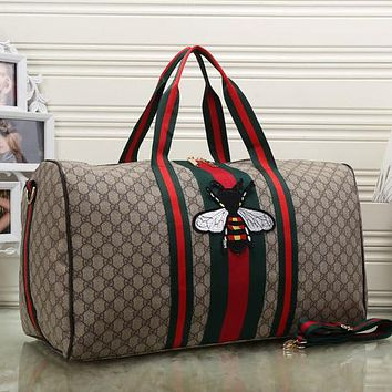 Perfect Gucci Women Fashion Leather Embroidery Luggage Travel Bags Tote Handbag