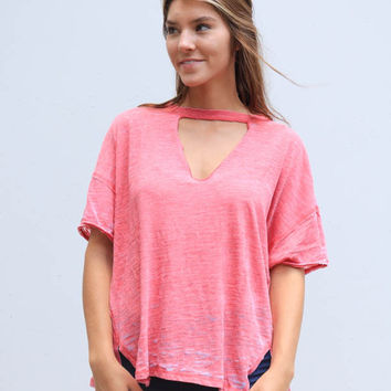 Free People Jordan Tee - Red