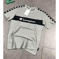 Champion Couple Wild Summer Tide Matching T-shirt Short Sleeve F-XMCP-YC Grey