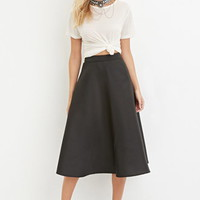 Contemporary A-Line Midi Skirt