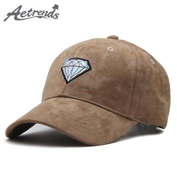 Trendy Winter Jacket [AETRENDS] Fashion Men 2018 Cap Suede Fabric Baseball Cap Man Mark Branded Baseball Caps Snapback Hats Luxury Trucker Hat Z-6409 AT_92_12