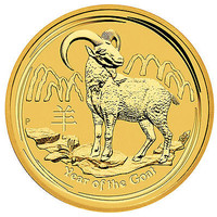 2015-P $5 Gold Australia Year of the Goat 1/20oz BU