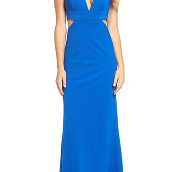 Adrianna Papell Deep V Jersey Gown   Nordstrom