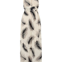 Ivory feather print maxi - Dresses  - Clothing  - Dorothy Perkins United States