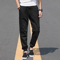 Plus Size Pants Stretch Black Casual Jeans [277905309725]