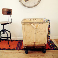 circa 1940 vintage industrial laundry cart lane 6 by goseek