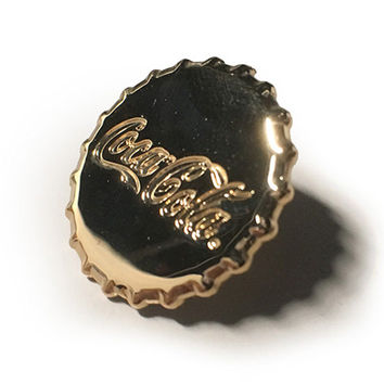 Coca-Cola Bottle Cap Lapel Pin / Tie Tack