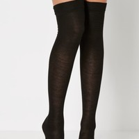 Black Rolled Cuffed Over-The-Knee Socks | Socks | rue21
