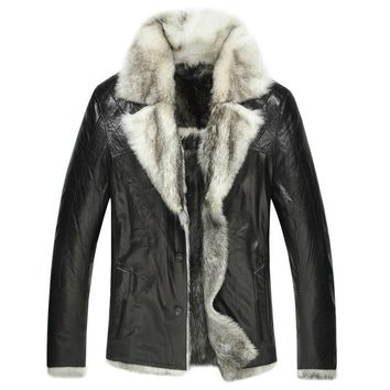 Hillsborough Toscana Shearling Men's Fur Leather Jacket- Limited Stock