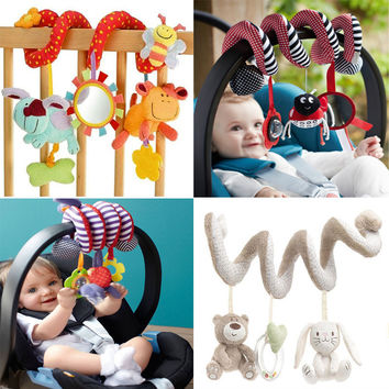 Cute Spiral Activity Stroller/Car Seat Hanging Baby Travel Toys