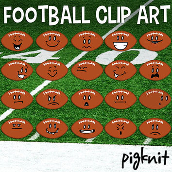 Football Clip art, Football Emoticons, Football Face, Sports Clipart, School Download, Football Cartoons, Football Download, Football Season