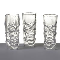 Clear Skull Shot Glasses Set/3