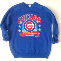 Chicago Cubs Crewneck Sweatshirt - 1989 Eastern Division Champions National League - Made in the USA