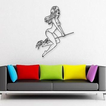 Wall Stickers Vinyl Decal Hot Sexy Girls Pin Up Lingerie Witch Unique Gift (ig825)