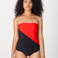 Nylon TricotTwo-Tone Swimsuit