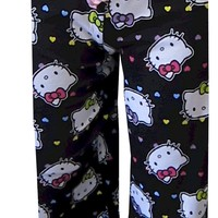 Hello Kitty Colorful Hearts Capri Lounge Pants