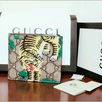 One-nice™ NEW GUCCI MEN'S/WOMEN BENGAL TIGER Bifold WALLET - Made in Italy!