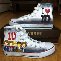 One direction shoes - Free Shipping Hand Painted Shoes from denimtrend