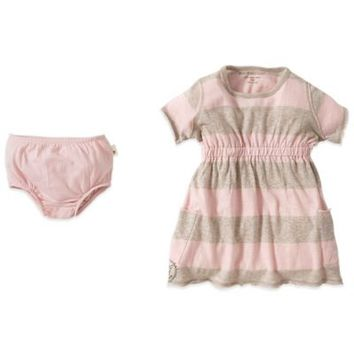 Burt's Bees Baby™ 2-Piece Organic Cotton Rugby Stripe Dress and Diaper Cover Set