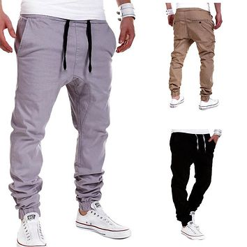 Mens Casual Jogger Sportwear Baggy Harem Pants Slacks Trousers Sweatpants