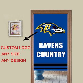 Baltimore Ravens Printed colorful flag style modern 3d curtains for the kitchen bedroom bathroom window kitchen door curtains