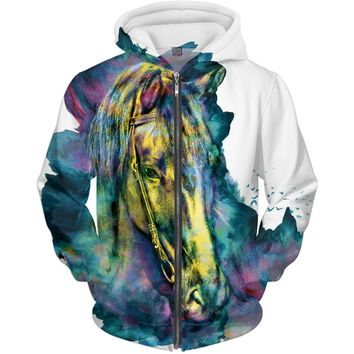ROMH Horse - Chained Beauty Adult Hoodie